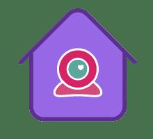 Logo videochat de acasa